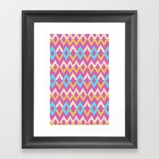 Ikat inspired Framed Art Print