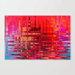 Colorful water ripples Canvas Print
