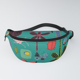 bugs and insects green Fanny Pack
