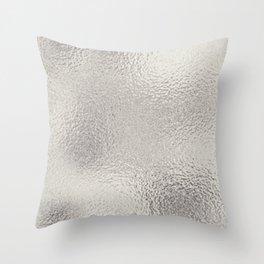 Simply Metallic in Silver Throw Pillow