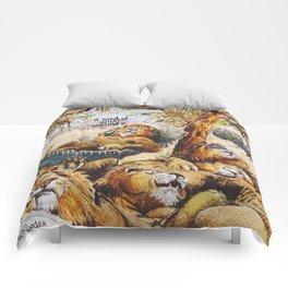 a herd is coming Comforters