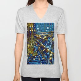 Blue Lines of Berlin Unisex V-Neck