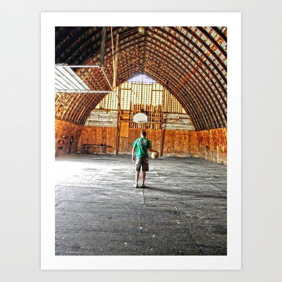 Basketball Barn Art Print