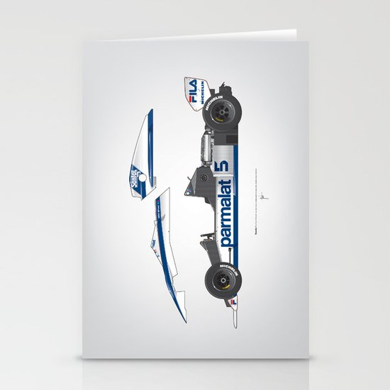 Outline Series N.º6, Nelson Piquet, Brabham BT-52 BMW, 1983 Stationery Cards