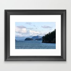 From the Mountains to the Sea Framed Art Print