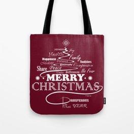 The Wishing Christmas Tree Tote Bag