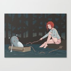 Night time adventures Canvas Print