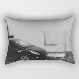 little driver and it's tiny ocean, toys landscape, urban toys Rectangular Pillow