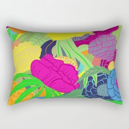 All the flowers Pattern Rectangular Pillow