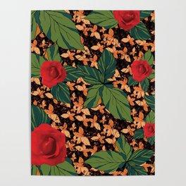 rose with dandelion - variant Poster