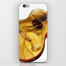 The guitar is a lady iPhone & iPod Skin