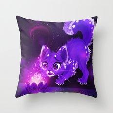 Purple Lotus Throw Pillow