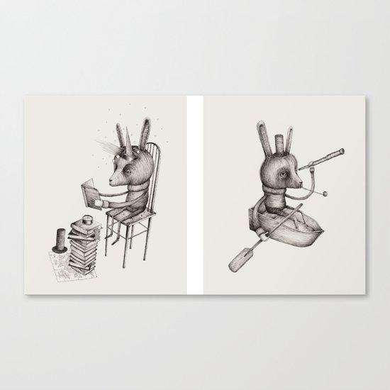 'Dreams Of Leaving' (Part 1 & 2) Canvas Print
