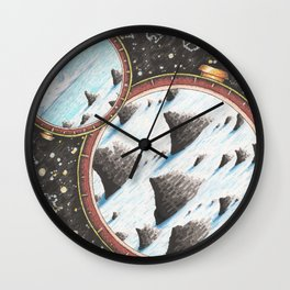 Face the unknown and you will start to know yourself Wall Clock