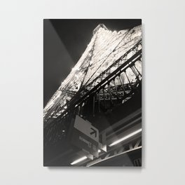 To the Top of the Eiffel Tower Metal Print