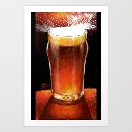 Beer_Illustration Art Print