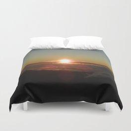 Sunrise from Mt. Haleakala Duvet Cover