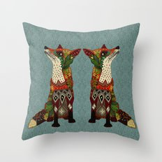 fox love juniper Throw Pillow