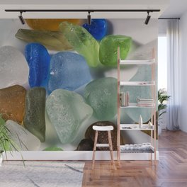 Colorful New England Beach Glass Wall Mural
