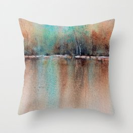 Reflections of Serenity Throw Pillow