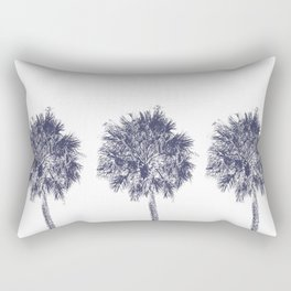 Three & Two Palm Trees Rectangular Pillow
