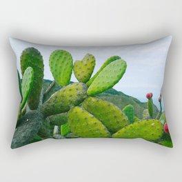 Prickly Pear Opuntia Succulent Rectangular Pillow