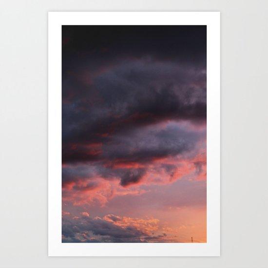 Sunset Atlas Art Print