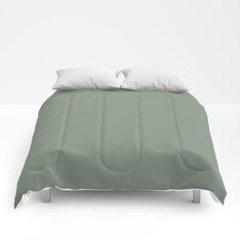 Green Pantone #839182 Comforters