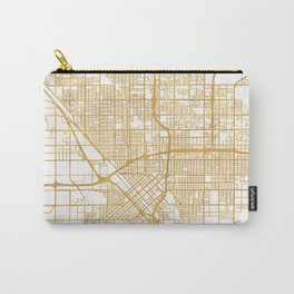 FRESNO CALIFORNIA CITY STREET MAP ART Carry-All Pouch