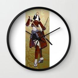 Masked Samurai Wall Clock