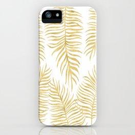 Fern Pattern Gold iPhone Case