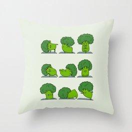 Broccoli Yoga Throw Pillow