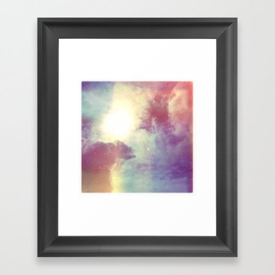 look to the sky Framed Art Print