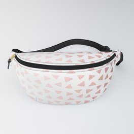 Rose Gold Triangle Checkers Fanny Pack