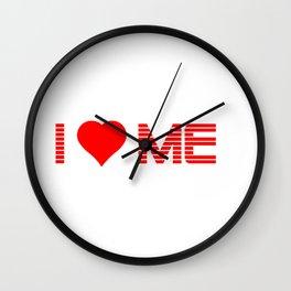 Valentine's - I Love Me (Heart) Wall Clock