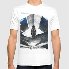 Astronaut Isolation White MEDIUM Mens Fitted Tee