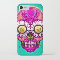 sugar skull iPhone & iPod Cases featuring Sugar Skull by Mr Grin