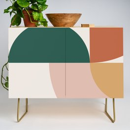 Abstract Geometric 12 Credenza