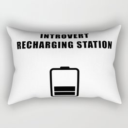 Introvert Recharging Rectangular Pillow