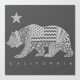 California grey Canvas Print