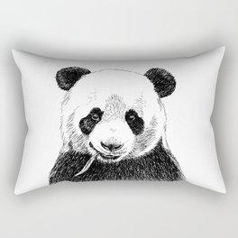 Panda Head Sketch Rectangular Pillow