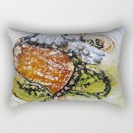 Unhinged Dreams - Mixed Media Beeswax Encaustic Modern Fine Art, 2015 Rectangular Pillow