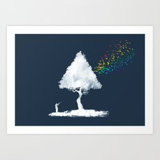 colourful hunting Art Print