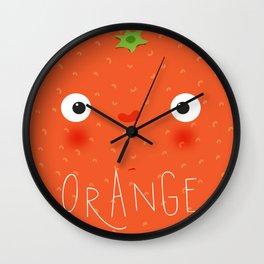 Fruit muzzle orange Wall Clock