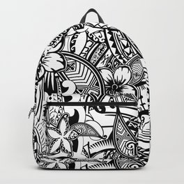 Hawaiian Polynesian Trbal Tatoo Print Backpack