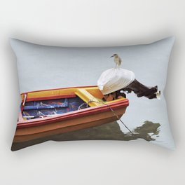 Fishing Bird Rectangular Pillow
