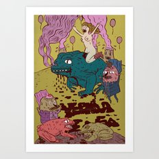 black toad Art Print