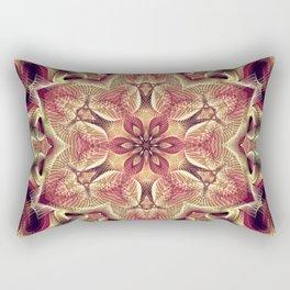 Flower Of Life Mandala (Sweet Mulberry) Rectangular Pillow