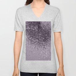 Sparkling Lavender Lady Glitter #2 #shiny #decor #art #society6 Unisex V-Neck