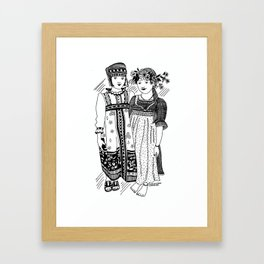 "Inktober, Day 29 ""Double"" #inktober #inktober2018 Framed Art Print"